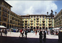 Plaza Mayor de Palma. Touristic Place to Visit and for Shopping
